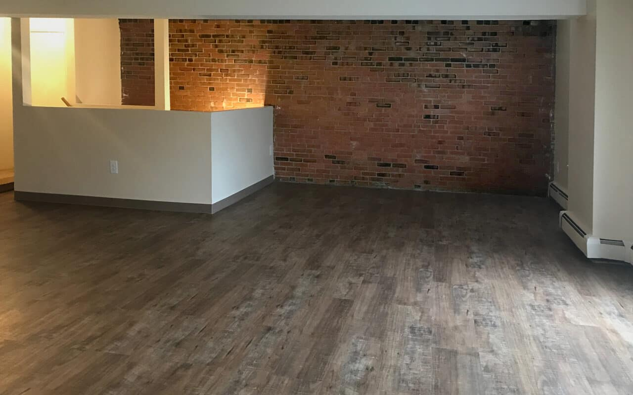 LVP flooring is an option at Brewery Square